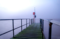 Misty morning at the jetty on WKML