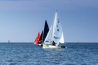 Sailing in West Kirby Marine Lake [RBW}